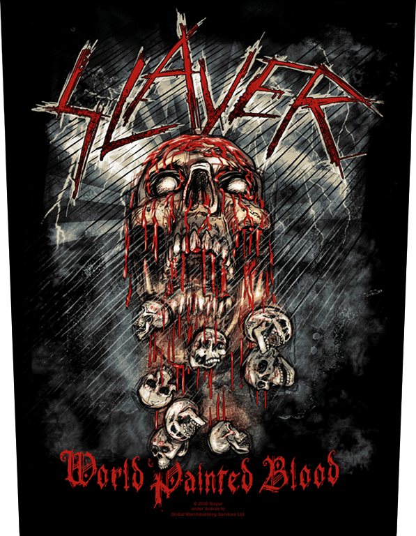 Slayer Backpatch World Painted Blood