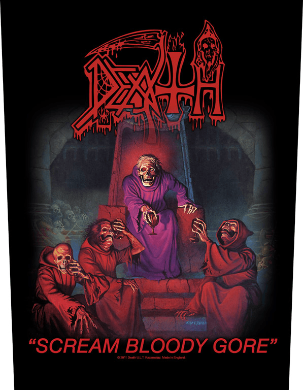 Death Backpatch Scream Bloody Gore