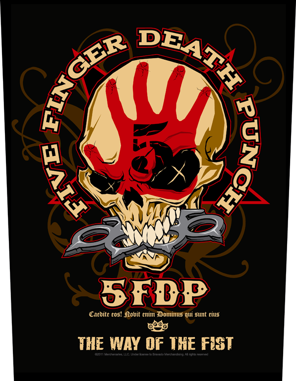 Five Finger Death Punch Backpatch Way Of The Fist