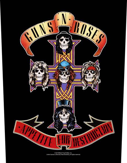 Guns N Roses Backpatch Appetite For Destruction