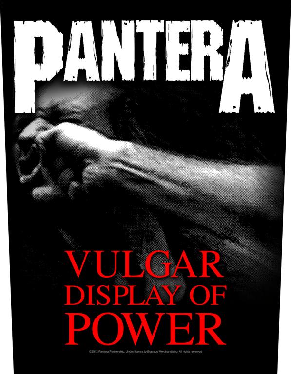 Pantera Backpatch Vulgar Display Of Power