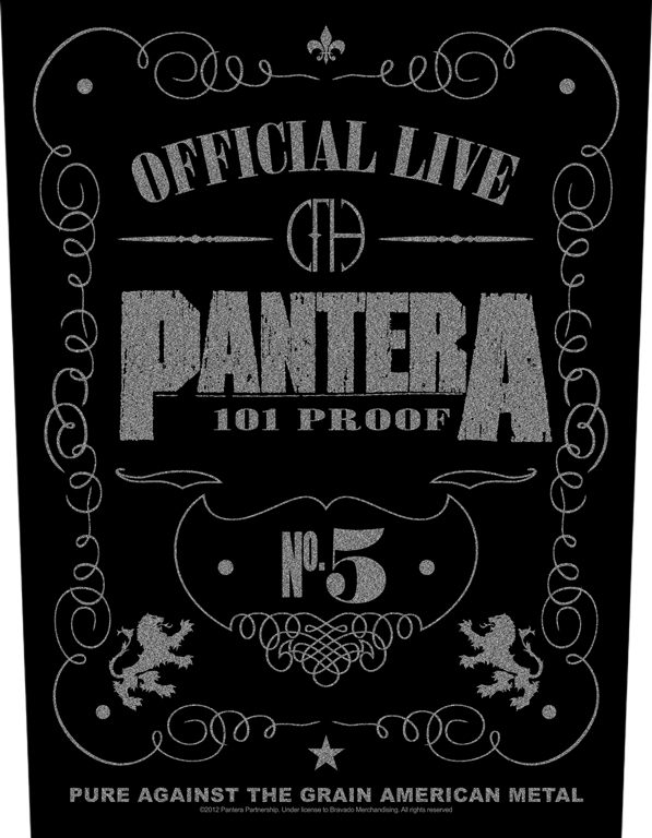 Pantera Backpatch 101% Proof