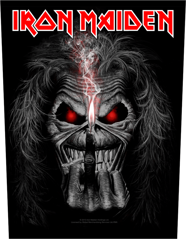 Iron Maiden Backpatch Eddie Candle Finger