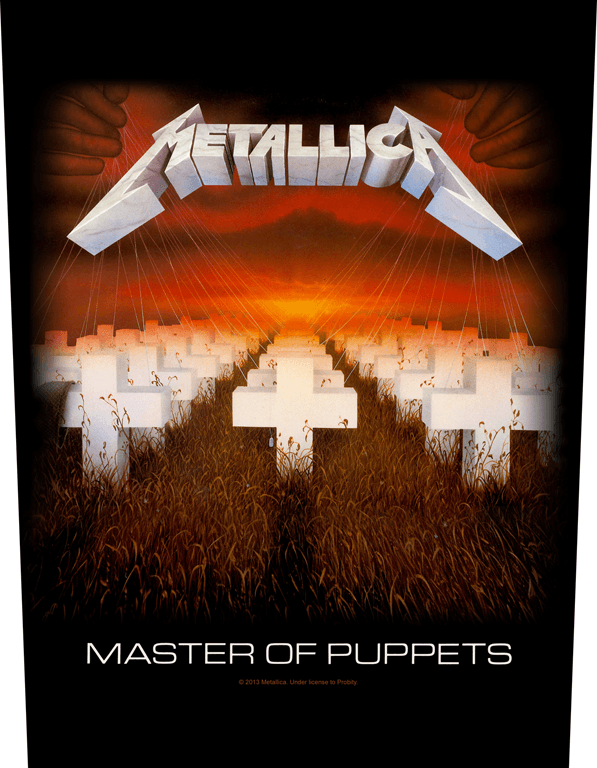Metallica Printed Backpatch Master Of Puppets