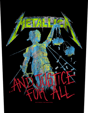 Metallica Printed Backpatch And Justice For All