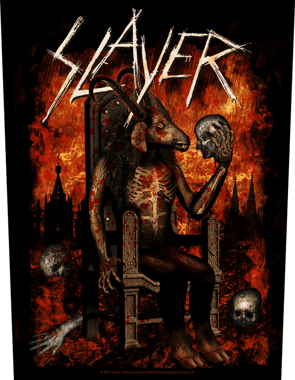 Slayer Backpatch Devil On Throne