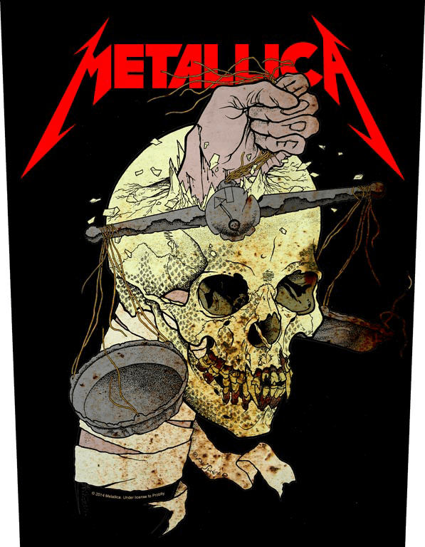 Metallica Printed Backpatch Harvester Of Sorrow