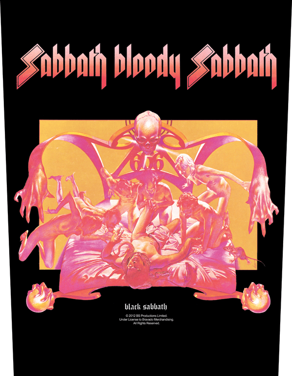 Black Sabbath Printed Backpatch Sabbath Bloody Sabbath