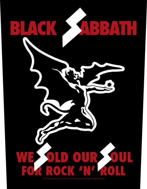Black Sabbath Printed Backpatch We Sold Our Souls