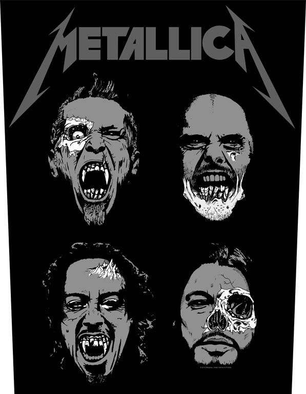 Metallica Printed Backpatch Undead