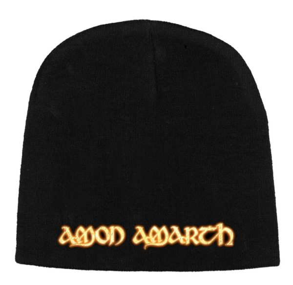 Amon Amarth Beanie Hat Gold Logo