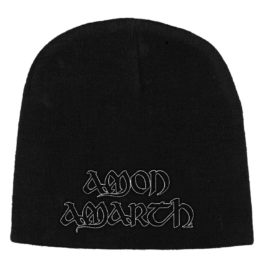 Amon Amarth Beanie Hat White Logo