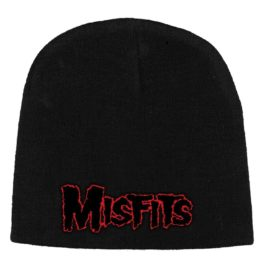 Mistfits Beanie Hat Red Horror Logo
