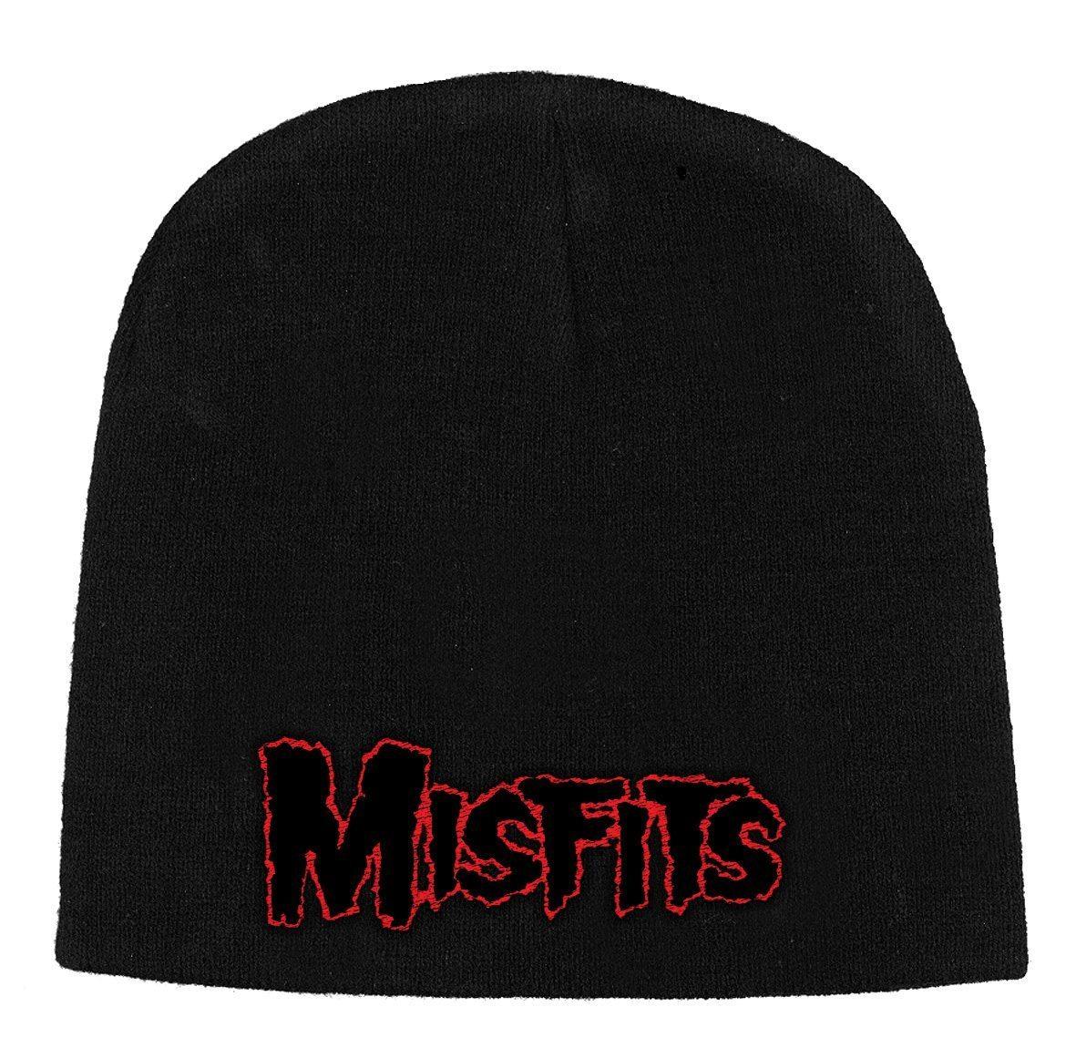 Mistfits Beanie Hat Red Horror Logo