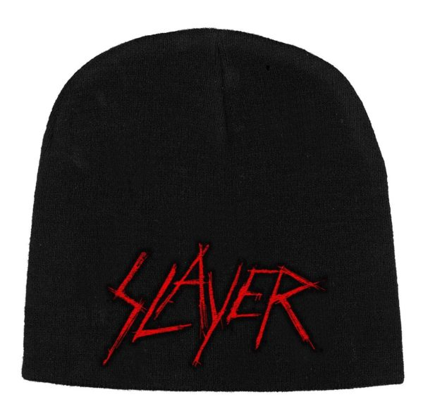 Slayer Beanie Hat Scratched Logo