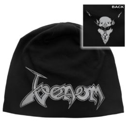 Venom Beanie Hat Black Metal