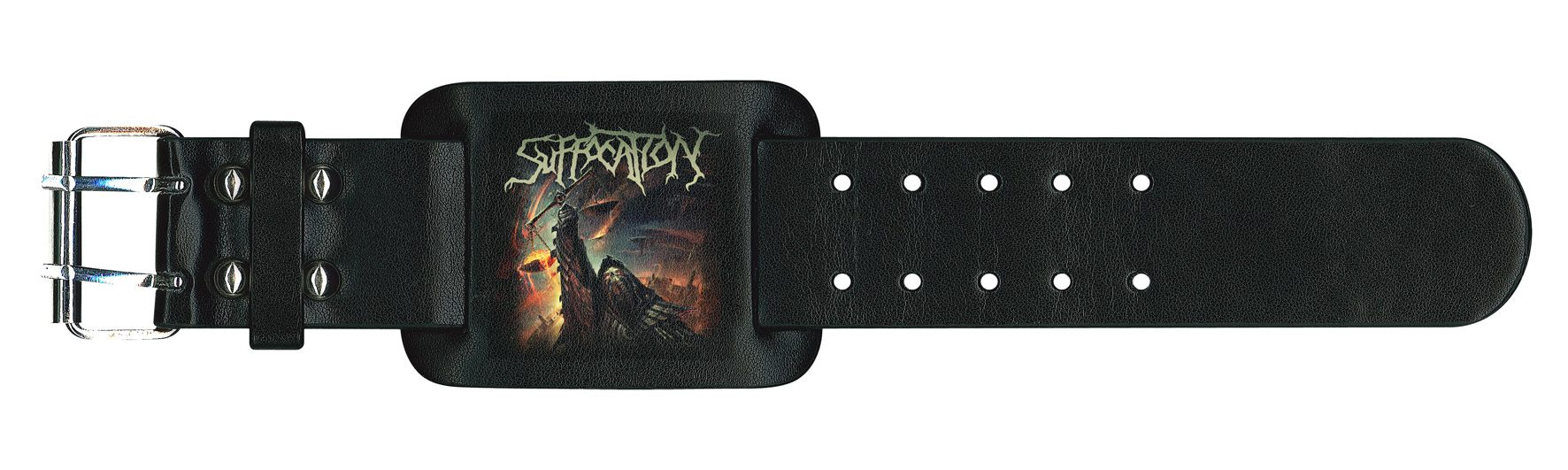 Suffocation Leather Wristband Pinnacle Of Bedlam