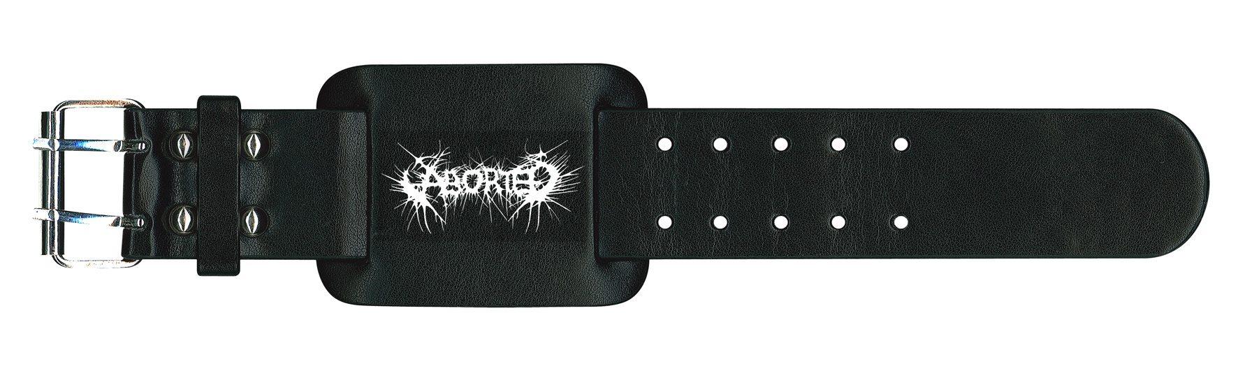 Aborted Leather Wristband Logo