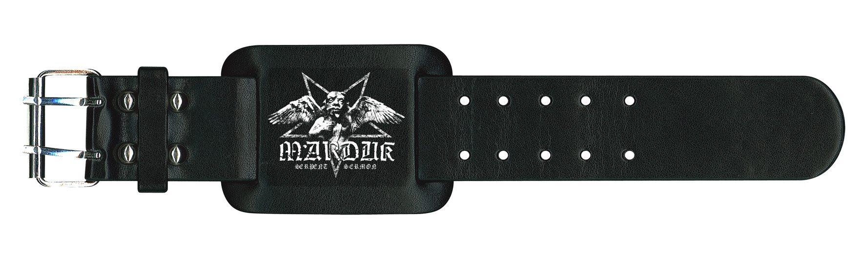Marduk Leather Wristband Serpent Sermon