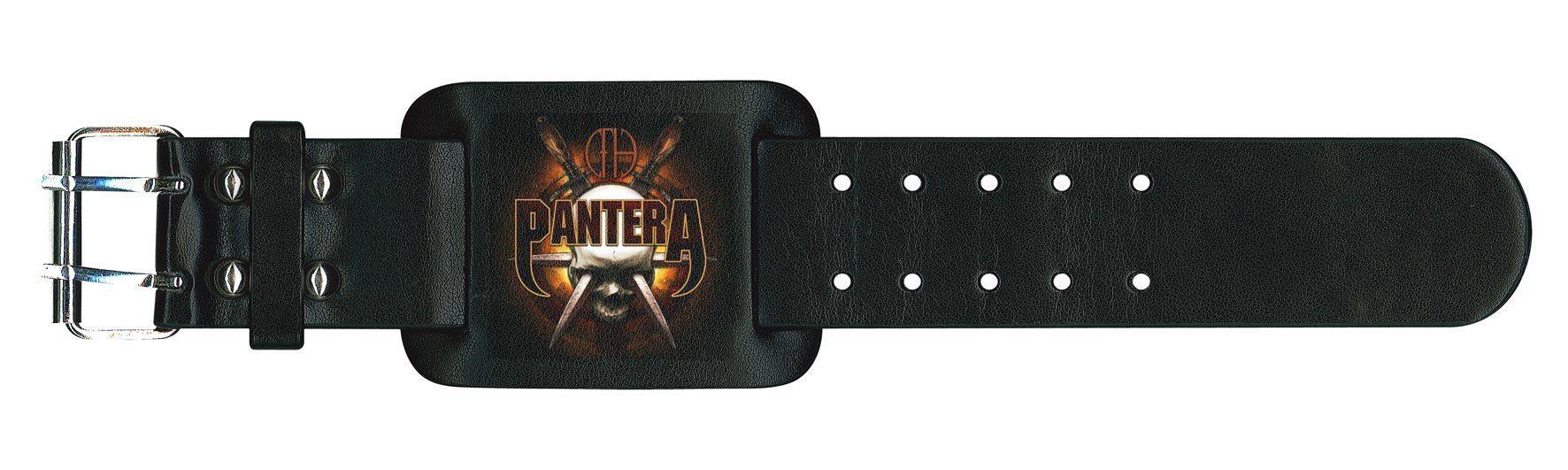 Pantera Leather Wristband Skull Knives