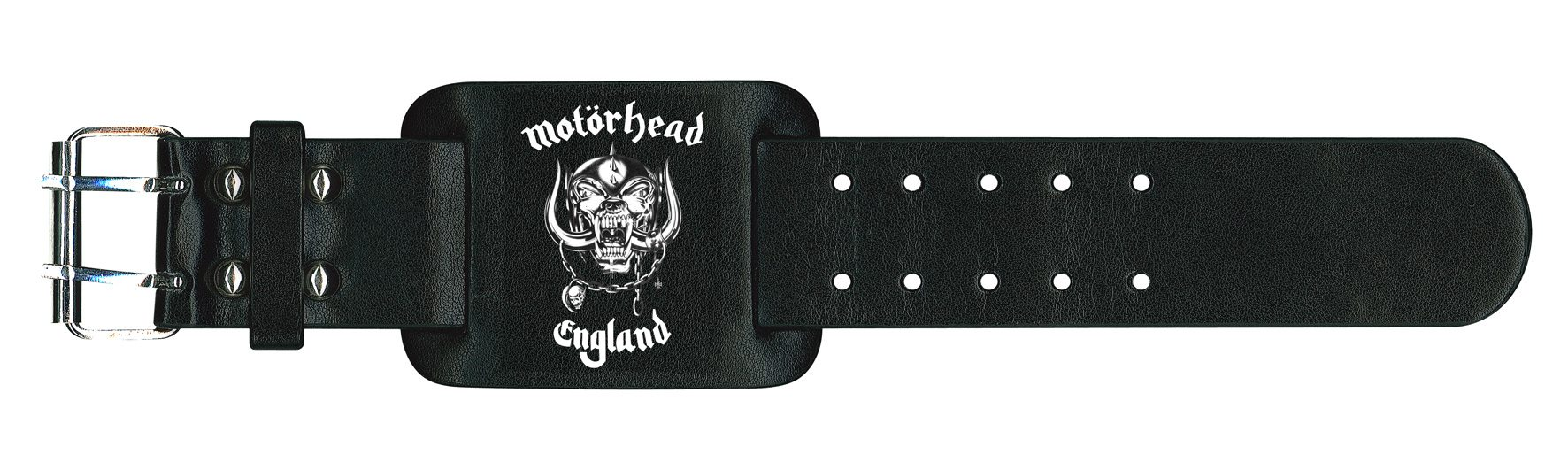 Motorhead Leather Wristband England