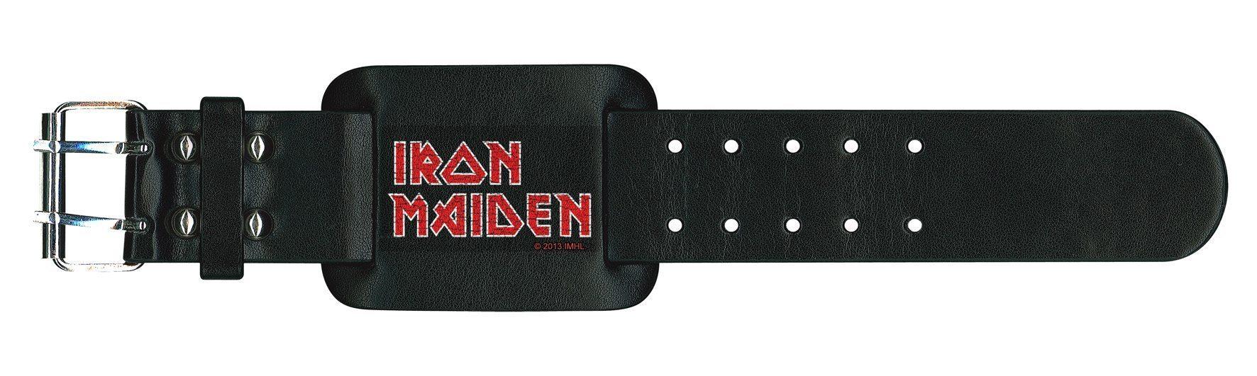 Iron Maiden Leather Wristband Logo