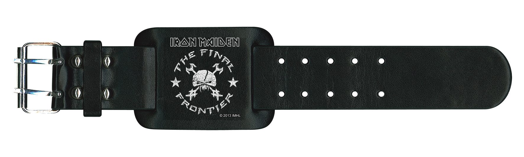 Iron Maiden Leather Wristband The Final Frontier