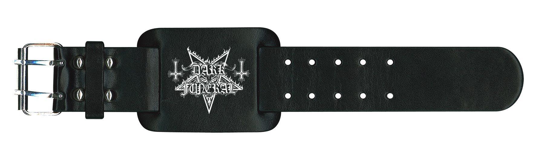 Dark Funeral Leather Wristband Logo