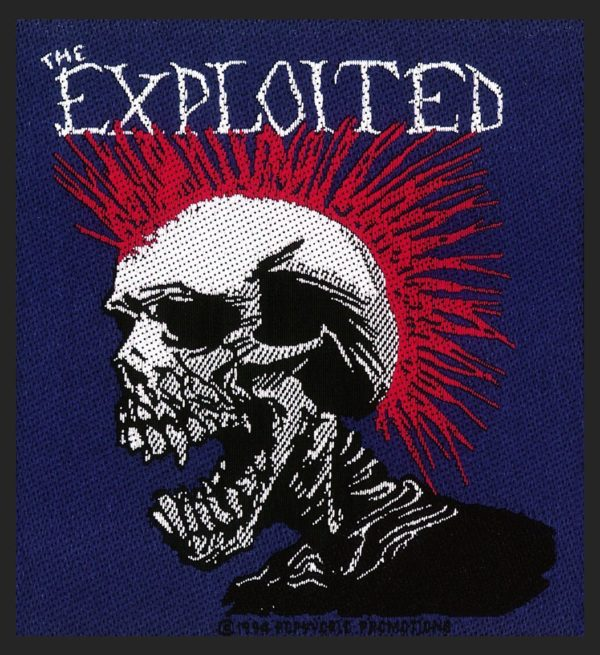 The Exploited Woven Patch Mohican Multicolour.