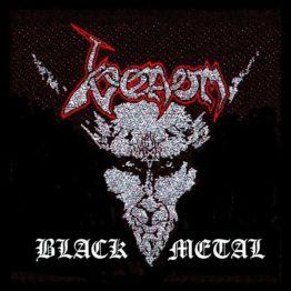 Venom Woven Patch Black Metal.