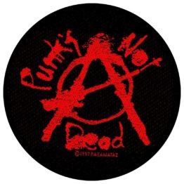 Punks Not Dead Woven Patch.