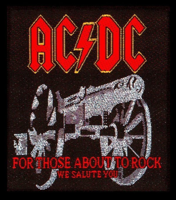 AC/DC Woven Patch For Those About To Rock.