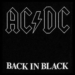 AC/DC Woven Patch Back in Black.