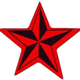Nautical Star Woven Patch.