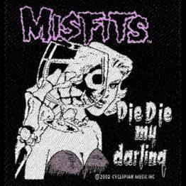 Misfits Woven Patch Die Die My Darling.