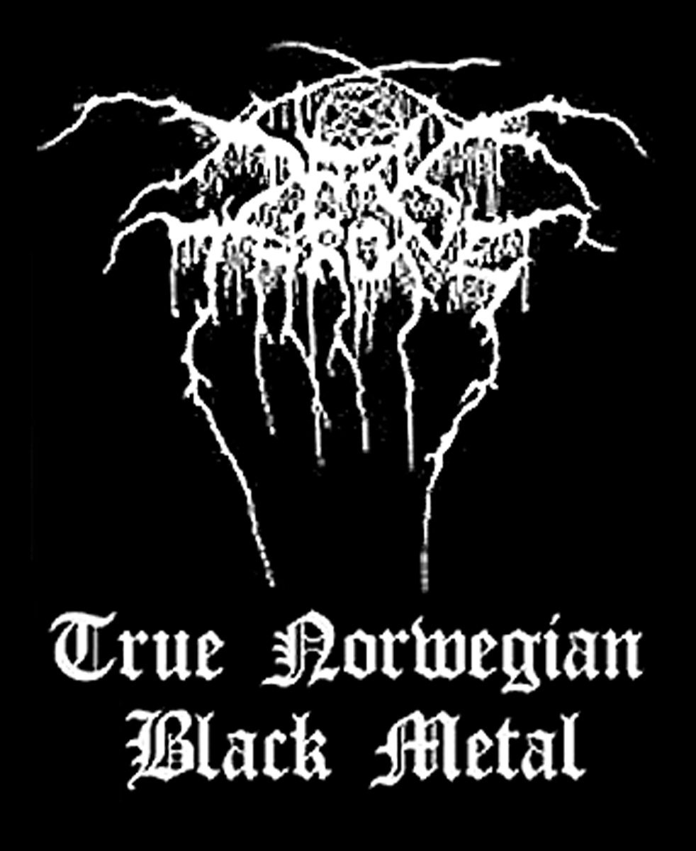 Dark Throne Woven Patch True Norwegian Black Metal.