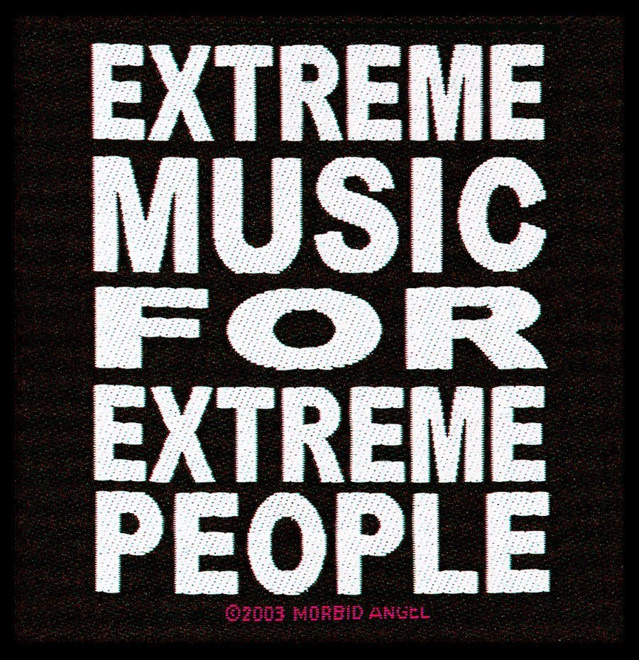 Morbid Angel Woven Patch Extreme Music.