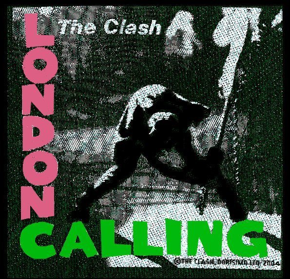 The Clash Woven Patch London Calling.