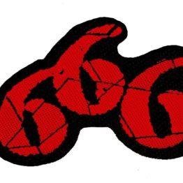 666 Cutout Woven Patch.
