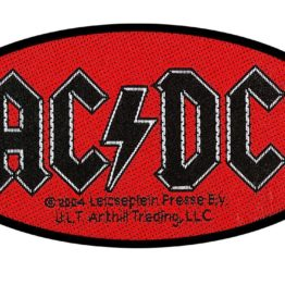 AC/DC Woven Patch Oval Logo.