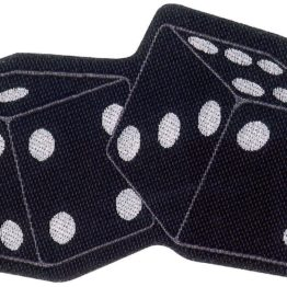 Dice Woven Patch.