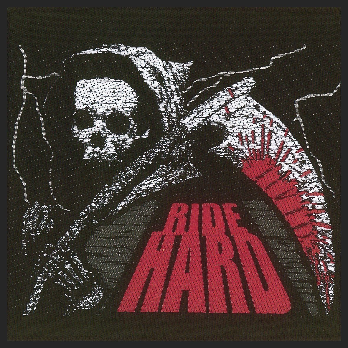 Ride Hard Woven Patch.