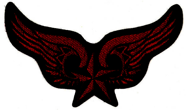 Winged Nautical Star Cutout Woven Patch.