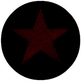 Red Star/Khaki Circular Woven Patch.