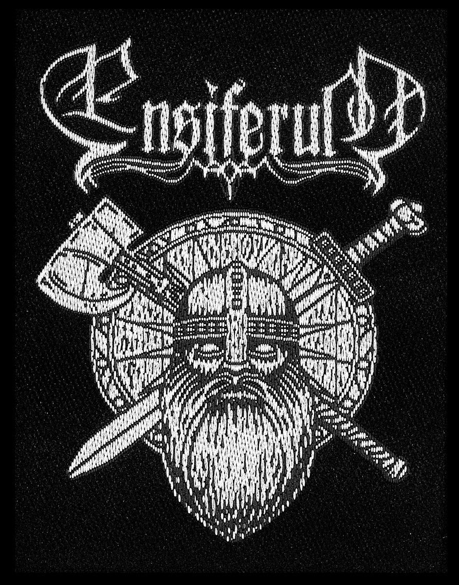 Ensiferum Woven Patch Sword and Axe.