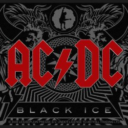 AC/DC Woven Patch Black Ice.