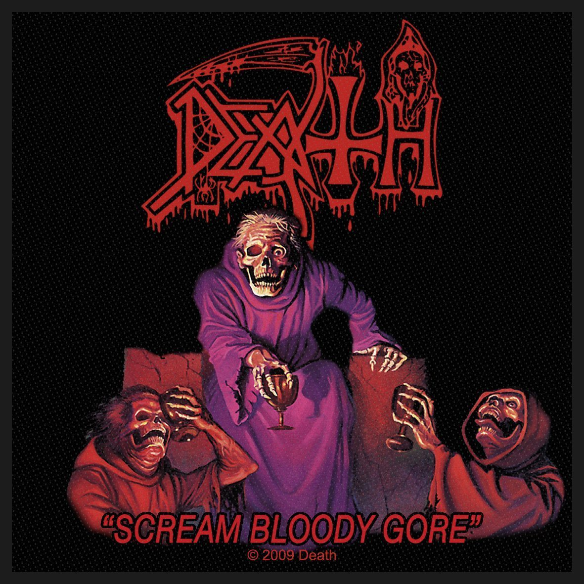Death Woven Patch Scream Bloody Gore