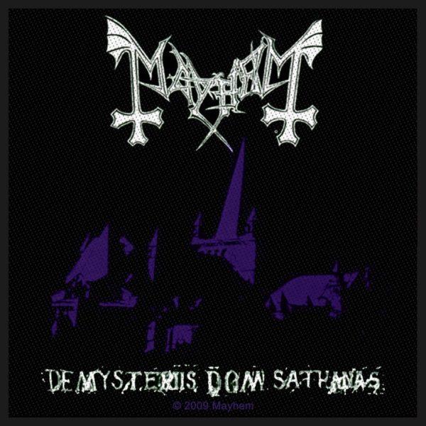 Mayhem Woven Patch De Mysteriis Dom Sathanas.