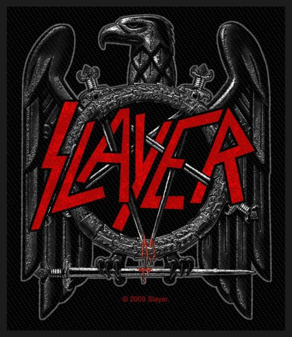 Slayer Woven Patch Black Eagle