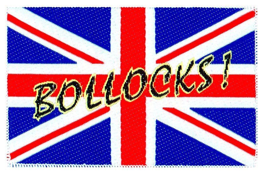 Union Jack/Bollocks Woven Patch.